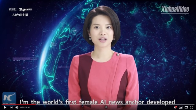 Chinese news agency unveils world's first A.I. news presenters in jaw-dropping video clips
