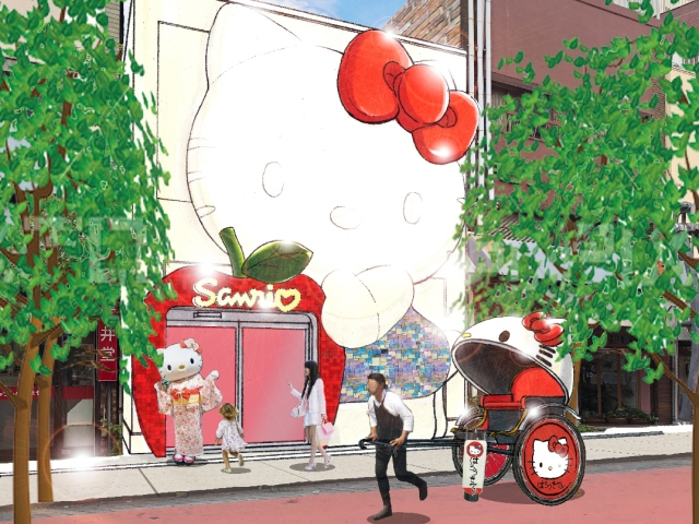 New gift shop featuring giant Hello Kitty storefront to open in Asakusa this spring