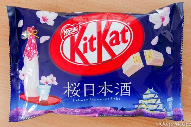 Sakura Japanese Sake KitKats combine rice wine and cherry blossoms for a sweet hanami experience