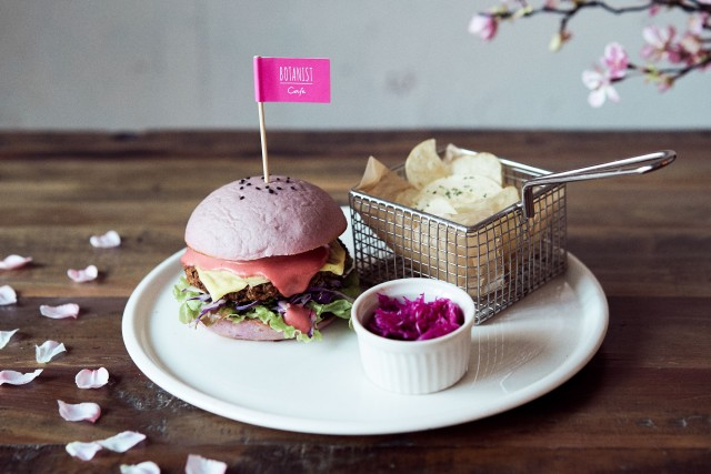 Vegan Sakura Burger from Tokyo vegetarian cafe gives everyone a taste of cherry blossom season