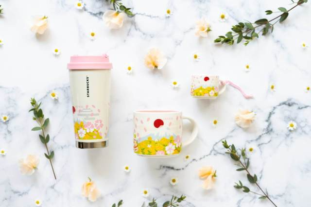 Starbucks Japan adds new sakura cherry blossom items to its You Are Here Collection