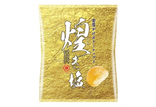 Gold-leaf seasoned potato chips are Japan's newest edible salute to the new emperor