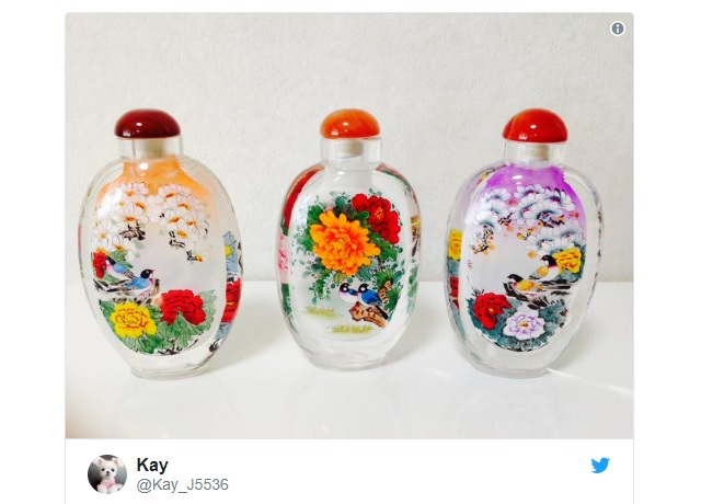 Beautiful Chinese snuff bottles reverse-painted on the inside impress Japanese netizens【Video】