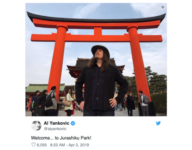 Weird Al Yankovic visits Japan, takes hilarious travel pics around the country 【Photos】