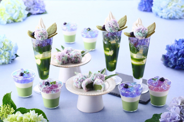 Japanese cafe's gorgeous hydrangea sweets celebrate most beautiful flower of Japan's rainy season
