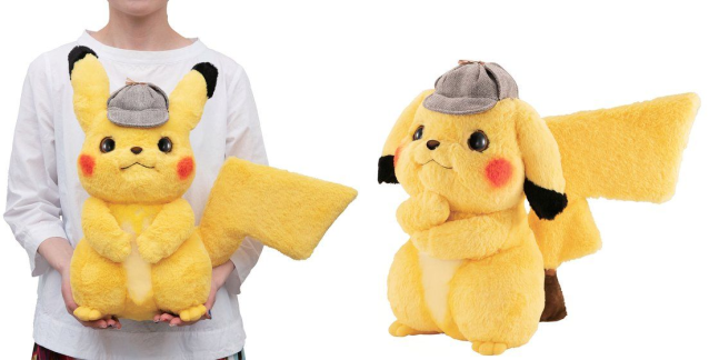 New posable life-size detective Pikachu plushie commits crime of stealing our hearts【Photos】