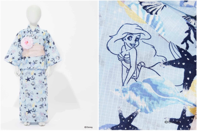 Ariel and Jasmine star in Disney princess pseudo-kimono line from Japanese fashion brand【Photos】