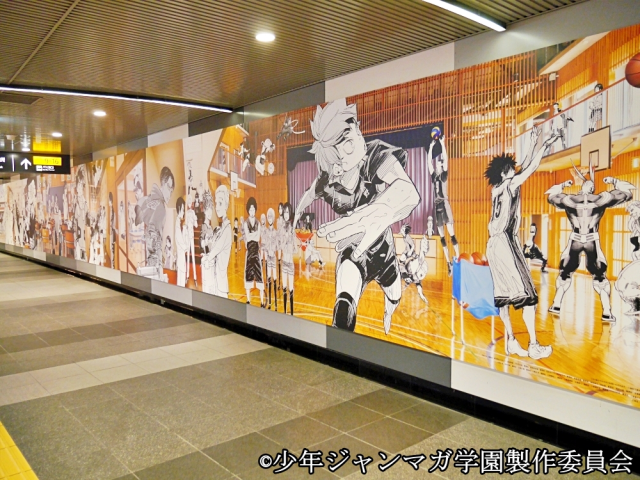 Massive manga mural appears in Tokyo station with nearly 100 feet of anime's biggest stars【Pics】