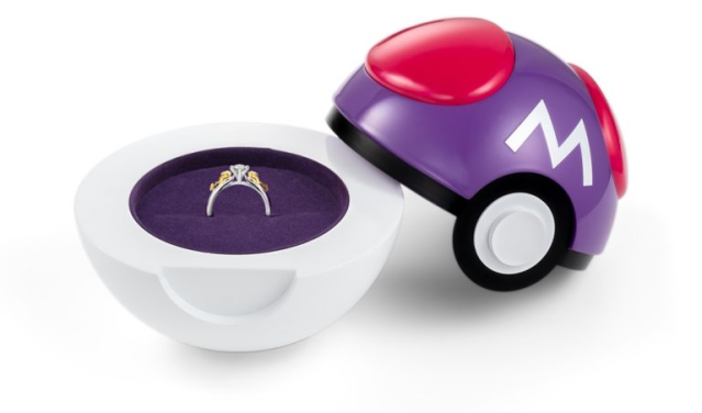 Pokémon Master Ball engagement ring case is sure to help you catch your beloved's heart