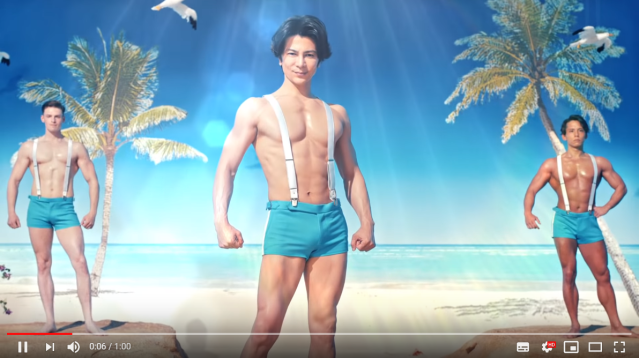 Handsome sunblock studs show off their muscles, lack of sunburns in sizzling Shiseido ad【Video】