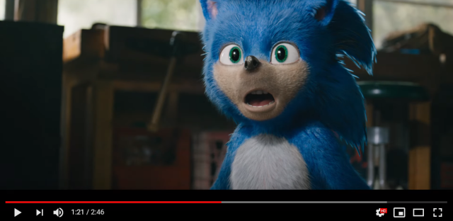 Good God the live-action Sonic the Hedgehog movie trailer looks weird【Video】