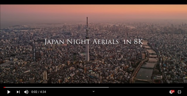 Amazing 8K video will blow you away with aerial views of the Tokyo metropolitan area at night