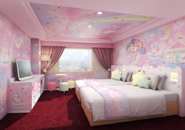 My Melody and Little Twin Stars join Hello Kitty for new themed rooms at Tokyo hotel