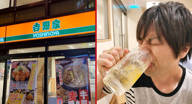 Yoshinoya in Japan has an amazingly cheap all-you-can-drink plan for you booze-and-beef cravings