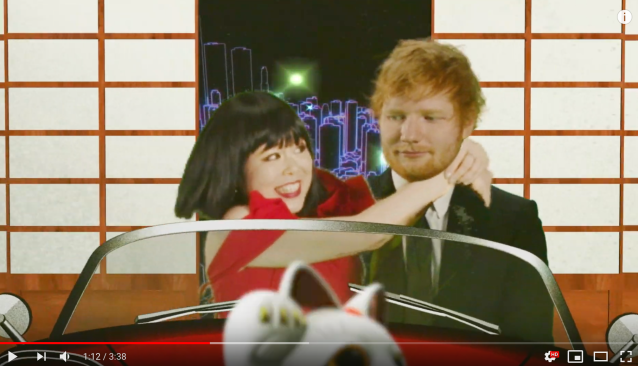 "Ed Sheeran's ""I Don't Care"" gets official Japanese parody video starring Blouson Chiemi 【Video】"