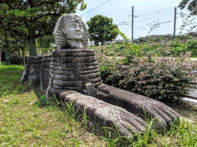 Japan's Roofless Museum holds many man-made marvels from the Sphinx to the Parthenon