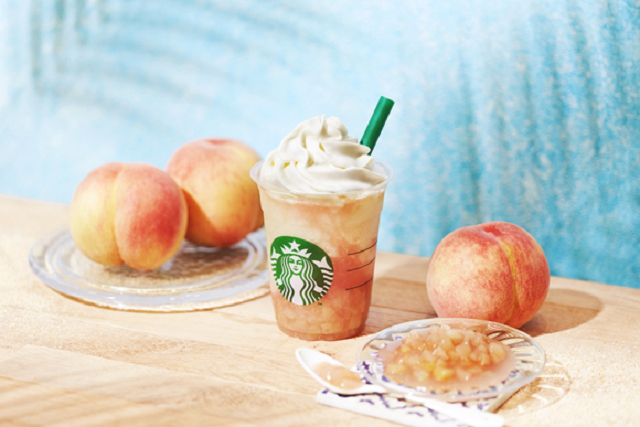Starbucks Japan's first-ever white peach Frappuccino is ready to kickstart the summer fun