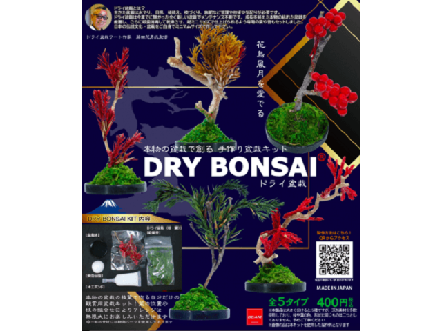 Real dry bonsai trees coming to Japanese capsule toy vending machines【Photos】