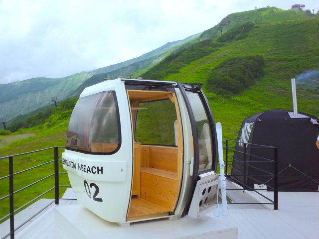 "We went to a beautiful ""beach resort"" on top of a mountain and sweated it out in a gondola sauna"