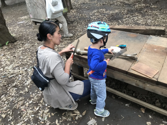 Japanese park encourages kids to play with saws, light bonfires for learning experiences