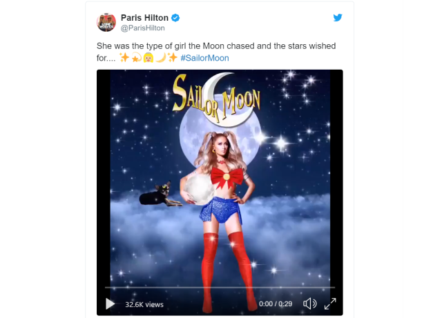 Paris Hilton's Sailor Moon cosplay and character description are bafflingly off-source material