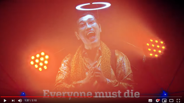 "Pen-Pineapple-Apple-Pen singer's new song, ""Everyone must die,"" is insane, possibly poignant【Vid】"