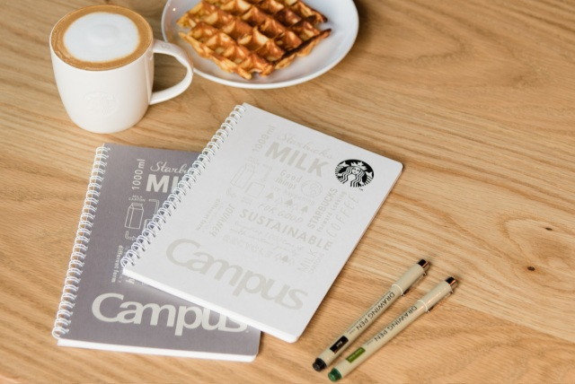 Starbucks turns its milk packs into notebooks with popular Japanese stationery brand