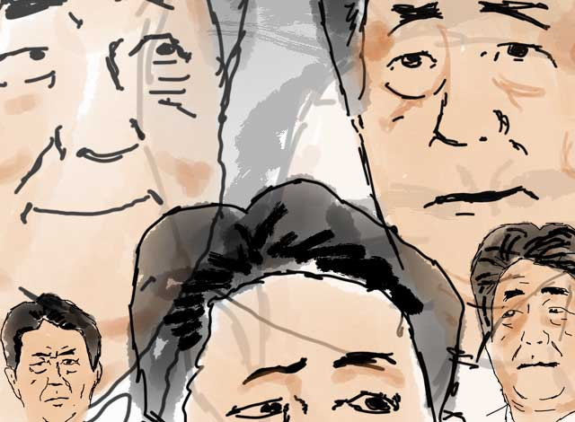 Prime Minister Abe undergoes a spectrum of emotions in eight seconds flat
