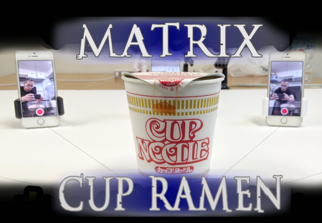 Enter the cup noodle: Eating instant ramen in bullet time