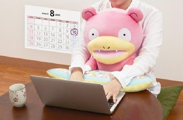 Slowpoke Pokémon PC cushion is ready to help you feel great about not getting very much done