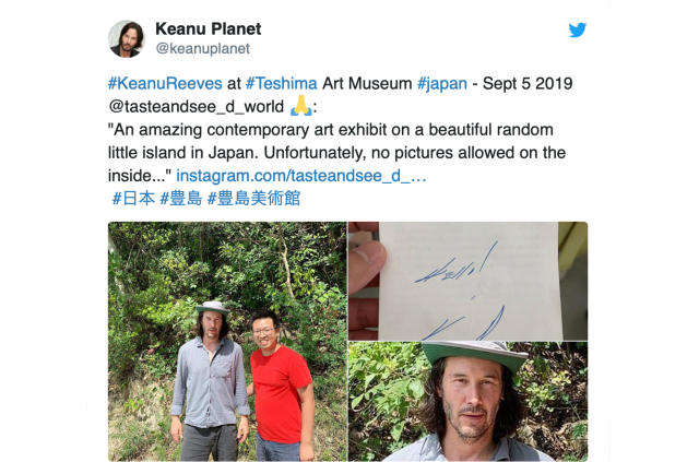Keanu Reeves visits Hideo Kojima and a rural art island in Japan before John Wick premiere