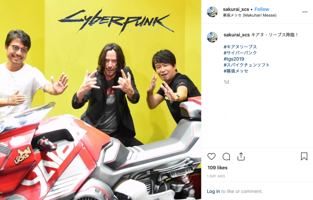 Keanu Reeves speaks Japanese to Cyberpunk 2077 fans at Tokyo Game Show【Video】
