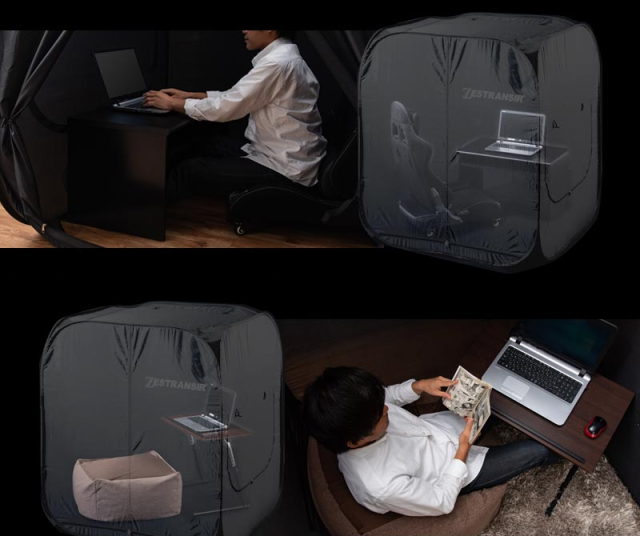 One-person seclusion tents from Japan let you turn part of your home into your private kingdom