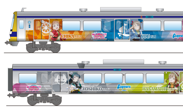 New anime train and bus ready to receive the love of Love Live! Sunshine!! fans in Shizuoka