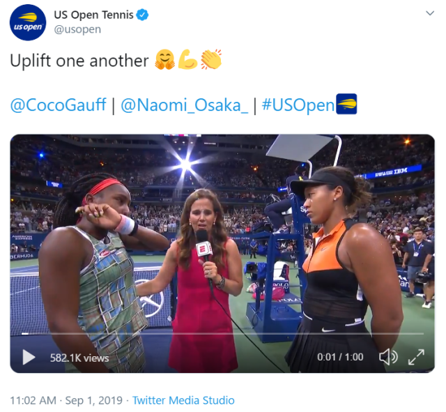 Naomi Osaka brings kindness and tears to stunning sportsmanship display at US Open