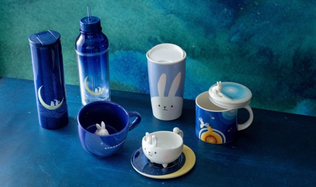 Starbucks Hong Kong adds new bunny mugs and cups to its mid-autumn drinkware range