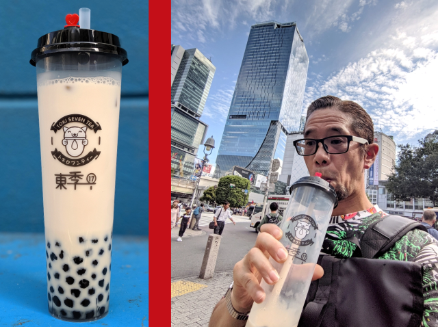 Tokyo tapioca tea takeover continues with a new massive boba drink stand in Shibuya【Photos】