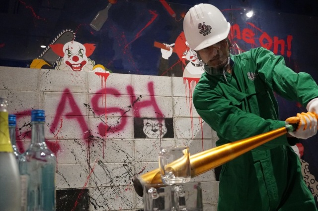 Hate your boss? Mad at your ex? Release stress and unleash anger at Crash Box Japan
