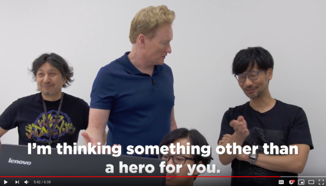 Hideo Kojima gives Conan O'Brien a job in Death Stranding in Japan【Video】