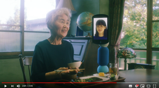 Japanese company wants you to use a remote-controlled robot to visit Grandma, go shopping【Video】