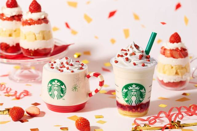 Starbucks Japan unveils new Merry Strawberry Cake Frappuccino for Christmas 2019