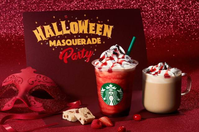 Starbucks Japan brings out a Red Night Frappuccino and Masquerade Mocha for Halloween
