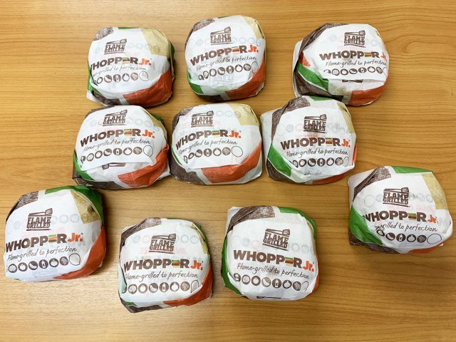 We took advantage of Burger King's Whopper Jr. sale in an extreme way