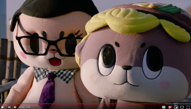 Japanese mascot Shinjo-kun joins ChiiJohn for a trip to the U.S. to see John Oliver 【Video】