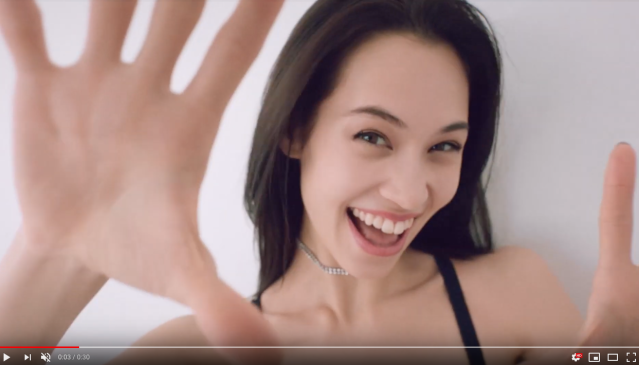 "American-Japanese model Kiko designs ""morning cleavage"" bra for lingerie brand Wacoal 【Video】"