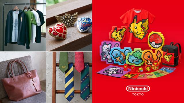 Beautiful Zelda, awesome Pokémon/Mario crossover merch are Nintendo Tokyo shop exclusives【Pics】