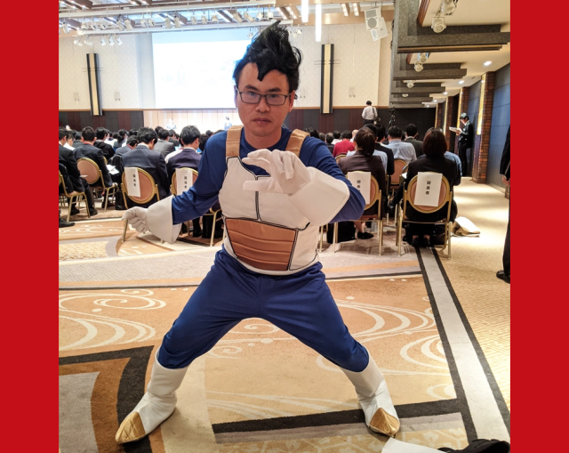 We attend one of Japan's most important press conferences this year, dressed as Vegeta【Photos】