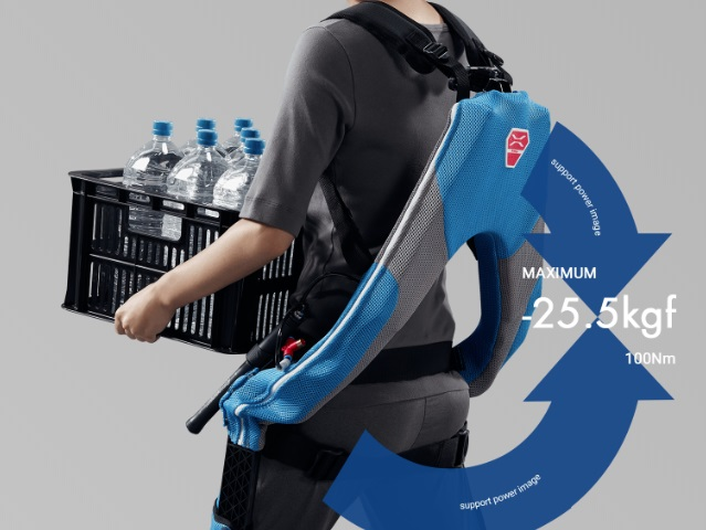 Assistive exoskeletons now available in Japanese electronic stores, lets you do serious lifting
