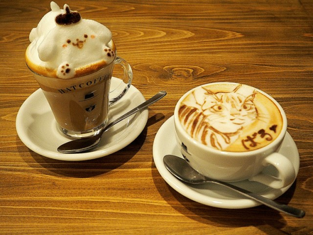 Cafe in Tokyo serves custom 2-D and 3-D latte art, and their coffee is nothing to sniff at either