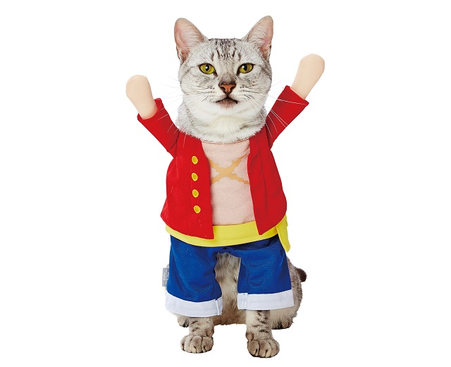 Your cat or dog can be King of the Pirates with One Piece anime cosplay outfits for pets【Photos】
